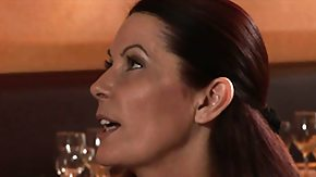 Bar HD Sex Tube 3 marvelous brunette milfs mislead the waiter at the restaurant
