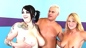 HD Scarlet Lavey Sex Tube Scarlet LaVey receives her corpulent tits guised in cum after all a threeway