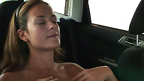 Masturbation Car, Amateur, Brunette, Car, Dress, Masturbation