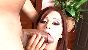 Angel Redhead, Blowjob, Boobs, Brunette, Cumshot, Handjob