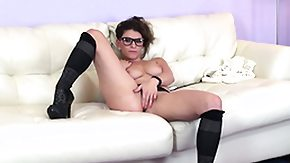 Glasses, Brunette, Cute, Glasses, Masturbation, Solo