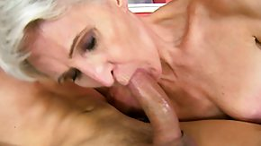 Granny, Blonde, Blowjob, Cumshot, Drilled, Experienced