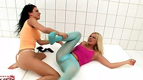 Wrestling, Blonde, Brunette, Feet, Fetish, Fight