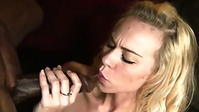 Black Cock, Blonde, Blowjob, Boobs, Cute, Interracial