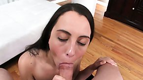 Cutie, Blowjob, Boobs, Brunette, Cumshot, Grinding