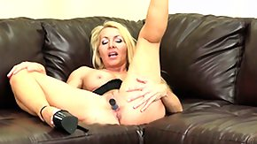 On Her Knees, Big Tits, Blonde, Boobs, Masturbation, Mature