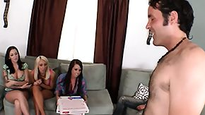 Emily Parker, Blonde, Blowjob, Brunette, Cumshot, Group
