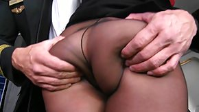 Stewardess HD tube MonsterCurves - More of mischa